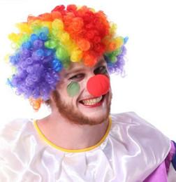 Wholesale Circus Wholesale - 1000 Pcs Lot 5cm Funny Props RED Foam Ball Clip Circus Clown Nose Comic Halloween Costume Party Magic Dress