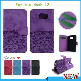Wholesale M7 Phone - For blu dash L2 touchbook M7 energy xl Luxury wallet flip Leather pouch phone case cover inside with credit card Slots