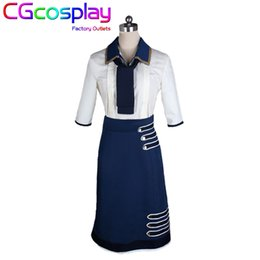 Wholesale Elizabeth Cosplay - Wholesale-Free Shipping Cosplay Costume Bioshock Infinite 3 Elizabeth Uniform Retail Wholesale Halloween Christmas Party