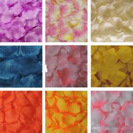 Wholesale Cheap Christmas Garlands - Cheap Romantic Artificial Silk Rose Petals Home Decorations Petal Flowers Wedding Party Valentine Garlands Accessories 5cm 100pcs lot