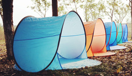Wholesale Single Person Beach Tent - Wholesale-Outdoor camping hiking beach summer tent UV protection fully automatic sun shade quick open pop up beach awning fishing tent
