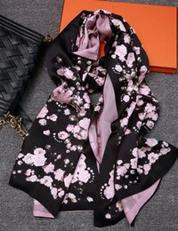 Wholesale Ladies Cherry - 2016 Fashion Cherry Blossoms Design Women Long Shawl,100% Mulberry Silk Lady Scarf,High-quality Double-deck Women's Printed Scarves,180*68CM