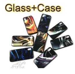 Wholesale I Phone Back Covers - New TPU+PC+Glass Shockproof Phone Case For iphone X i phone 7 iphone 8 6S Glass Back Cover Soft TPU Edge Glass Case