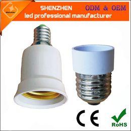 Wholesale Bulb Sockets Types - E14 to E27 Fireproof Material lamp Holder Converter Socket Base type Adapter Conversion light Bulb e14 light socket e27 lamp holder