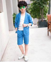 Wholesale Leisure Suit Pictures - The most fashionable boy short style leisure suit cool summer suit elegant high quality customized boy suit two-piece (coat + pants)
