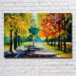 frutas arte abstracta pinturas a óleo Desconto Feitas à mão Bela Árvore Estrada paisagem Pintura A Óleo Sobre Tela Sala de estar Decoração Faca Pintura Agradável Decoração Casa