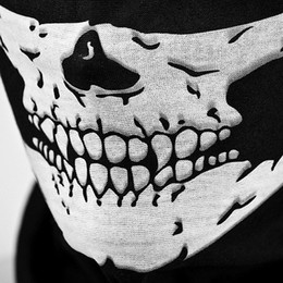 Wholesale Tribal Black - Motorcycle Cycling Stretchable Windproof Black Tribal Classic Skull Soft Polyester Scarf Half Face Mask Facemask Headwear Warmer