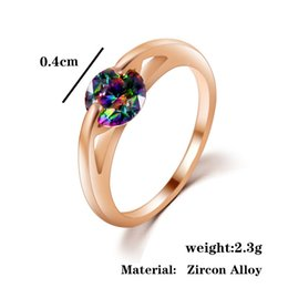 Wholesale Cheap Gold Diamond Rings - Women's Luxury Jewelry for Girls Cheap Silver Rings Rhinestones CZ Diamond Ring Valentine's Day Gift for the New Year 2016 21B10