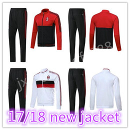 Wholesale Honda Kits - top thai quality soccet jacket 2017 2018 AC milan jackets kits 17 18 MENEZ HONDA BACCA tracksuit jacket Sweatshirt free shipping