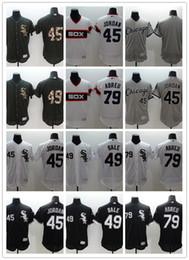 Wholesale Gold Mix Order - 2016 Flexbase Stitched Chicago White Sox #45  35 Thomas 49 Sale 79 abreu Blank White Black Gray Salute To Service MLB Jersey Mix Order