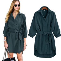 Wholesale Women Apparel Shirt - Autumn and winter new fashion long Sleeve Shirt womans Dress OL style lothing elegant classic office dresses wear to work apparel 6058 #