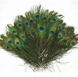 2019 artigianato del pavone diy Piume di pavone naturale 23-30cm FAI DA TE Decorazione abbigliamento piumaggio artigianato G1094 sconti artigianato del pavone diy