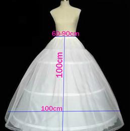 Wholesale Underwear Balls - 5pcs 100cm Diameter Underwear Crinoline 3 Hoop Petticoat Underskirt Crinoline For Ball Gown Dress Wedding Accessories Underskirt