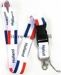 Wholesale Card Clubs - 10pcs Mens Sport Football Lanyard Key Chain MP3 4 Holland Club Flag Lanyards Camera ID Card Holder Neck Strap #F008