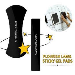 Wholesale Wall Mounted Holder - Flourish Lama Phone Holder Viscosity Mount Holder Washable Reusable Flexible Phone Holders Black Color 2Pcs Set