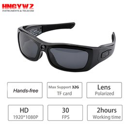 Wholesale Mini Hd Headphones - HD 1080P camera glasses sunglasses Bluetooth headphones micphone Driving recorder polarized lens mini camcorders.