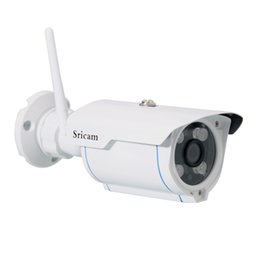 Wholesale Wireless Ip Pan Tilt Camera - Sricam SP007 WiFi 720P IP Camera Wireless Support Onvif Network P2P Phone Remte View Waterproof Outdoor Smart Home CCTV Camera