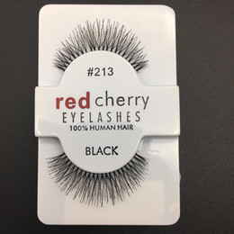 Wholesale Eye Lashes 217 - RED CHERRY False Eyelashes Eye Lashes Extension Makeup Professional Faux Eyelash Winged Fake Lashes Wispies #43, #48, #213,#217, #218, #412
