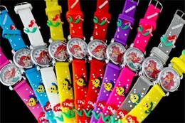 Wholesale boys mermaid - 3D Cartoon Lovely Kids Girls Boys Children Students mermaid Quartz Wrist Watch Very Popular