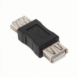 Al por mayor- En stock! USB 2.0 Tipo A Hembra a A Hembra Adaptador Adaptador Conector F / F Convertidor de Marca Más Nuevo al por mayor desde fabricantes