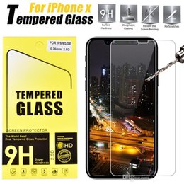 Wholesale Glass Film For Shipping - For iPhone 7 Tempered Glass Screen Protector For Iphone 6 J7 2017 LG stylo3 Film 0.33mm 2.5D 9H Anti-shatter Paper Package DHL Free shipping