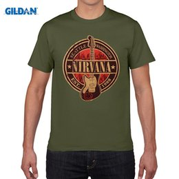 Wholesale Nirvana Top - Nirvana T Shirt Kurt Cobain Guitar Tshirt Rock Band Tee Men Women Cotton T-Shirt Summer Top Clothing Short Sleeve