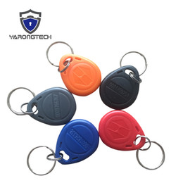 Wholesale Frequency Rfid - 125Khz RFID Tag EM4100 EM Marine ABS Waterproof Low frequency Blue Red Grey Black Orange color Keyfob for door entry Access control -100pcs