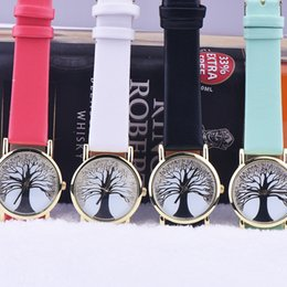Wholesale Cheap Christmas Watches - Christmas Trees Dial Geneva Watches for Women Girls Wholesale Cheap Prices High Grade Dress Watches Fashion Analog Quartz Wristwatches Gift