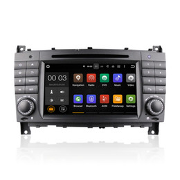 Wholesale 3g Transmitter - Android 5.1 Car DVD Radio Player GPS Quad Core for Mercedes-Benz C-Class CLC-Class W203 CLK W209 With Wifi 3G Bluetooth EX-TV CanBus