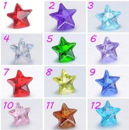 Wholesale Wholesale Christmas Floating Charms - 200Pcs Lot 5mm Stars Plexiglass Crystal Birthday Stones Christmas Floating Charms For Floating Lockets Charms 2016 Styl