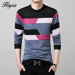4d12e8205f222 Wholesale-2016 New Autumn Winter Thin Sweater Men Wool Sweaters Knitted  Cashmere O-Neck Pullover Shirt Men Casual Striped Pull Homme 66158