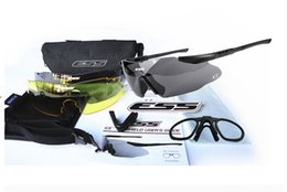 Wholesale Red Frame Safety Glasses - ESS ICE 2.4 Safety Glasses Tactical Army Goggles TR90 Frame For Outdoor Hunting Wargame Cycling SunGlasses Bike Eyewear