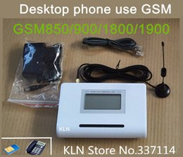 Wholesale Gateway Gsm Sim Card - Fixed Phones With Sim Cards Wireless Gateway Connect to Desktop Phone Making Call by Gsm Network.-KLN