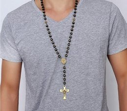 Wholesale Chain Necklaces Images - men's new necklace design silicone beads necklace with Jesus pendant long chain, pray necklace, best boyfriend gifts images