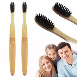 Wholesale Natural Toothbrushes - New Oral Hygiene Teeth Whitening Natural Bamboo Toothbrush Teeth Brush Tongue Scraper With Bamboo Handle Mouth Clean