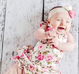 2019 vestidos marrones monos 2016 mamelucos del cordón del bebé flora del algodón mono de los niños ropa de verano niños0-2Y