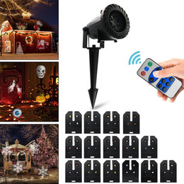 Wholesale Pattern Projector - Halloween Holiday Decoration Waterproof Outdoor LED Stage Lights With 15 Replaceable Patterns Christmas Laser Projector Lamp