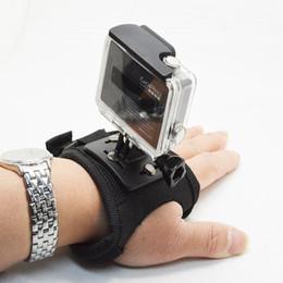 Wholesale Glove Material - For Gopro Accessories Glove-style Wrist Hand Mount Strap Holder For Gopro Hero6 black 5 4 3+ 3 2 Xiaomi Yi SJ5000 SJCAM Camera GP129