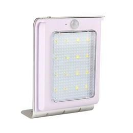 Wholesale 16led Solar Lights - Hot New 16LED Solar Power Motion Sensor Garden Security Lamp Outdoor Waterproof Wall Light LED Lamps For Home Garden Outdoor