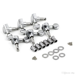 Wholesale Head Guitar - 6R Right 6L Left 3L+3R String Tuning Pegs Tuners Tuner Chrome Inline Guitar Machine Head 6R Right