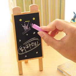 Wholesale Wholesale Eraser Board - Mini Cute 4 Sets lot Stand Blackboard With Blackboard Eraser + Chalk Creative Desktop Message Board School Office Supplies Papelaria