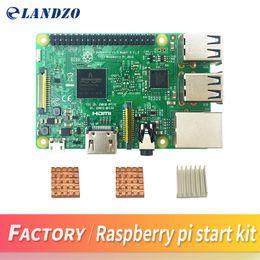 Wholesale Core Arms - Raspberry Pi 3 Model B 1G 64-Bit Quad-Core ARM WiFi & Bluetooth + CPU Aluminum Heat Sink For Raspberry Pi 3