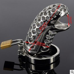 Wholesale Lockable Chastity - M112 new male bondage lockable stainless steel cock cage penis ring cage,black dildo cage rings, sex toys for men