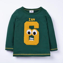 Wholesale Cheap Clothing Boy Girl - Spring autumn new cheap long sleeve children's T-shirt boys and girls thin shirts kids clothes 2017