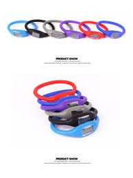 Wholesale Rubber Wristbands Kids - Kids Gift Candy Color Mini Anion Pedometer Silicone Fitness Tracker Wristband Rubber Bracelet pedometer Portable For Outdoor Sport Xmas