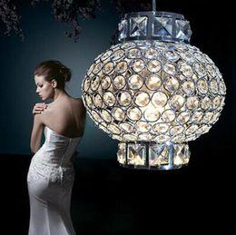Wholesale 5w Single Led - Chinese lanterns style led crystal lamp AC85-265V 5w romantic lantern led single pendant light for bedroom,study room