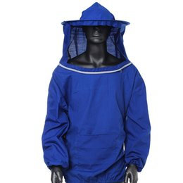 beekeeping equipment Coupons - 2 Color - Beekeeping Jacket Veil Smock Equipment Supplies - Polyester Cotton Bee Keeping Hat Sleeve Suit - White Blue Free Shipping