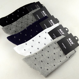 Wholesale Dress Socks For Men - Hot Sale 100% Cotton Solid Color Classic Business Men's Socks Casual Dress Socks for Male 20pairs lot