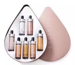 kundenspezifisches pulver Rabatt Cover FX Custom Enhancer Tropfen Gesicht Highlighter Powder Makeup Glow 7color 15ml Flüssigkeit Highlighters Set