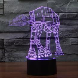 Wholesale Robot Table Lamp - Hot Toys Captain America Pacers model children gift LED night light decorative dog dog 3D sci-fi robot mini table lamp-17